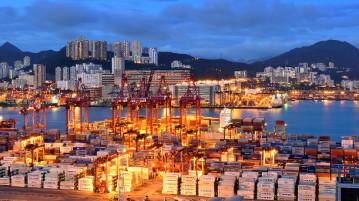 Puerto de Hong Kong, China