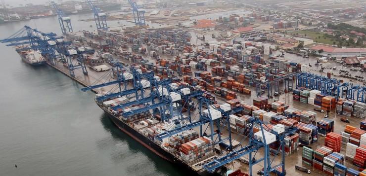 El puerto Balboa en Panamá,